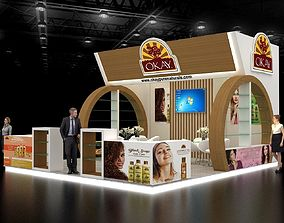 Exhibition stand 7x6Mtr Three Side Open 3D model