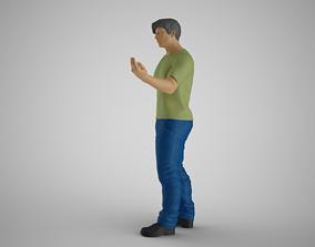 3D print model Man Hand Beckoning