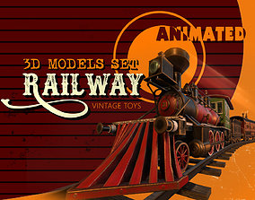 The Railway 3D model animated
