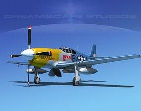 3D North American P-51B Lady Liberty