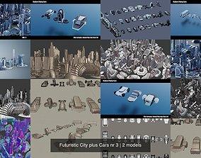3D Futuristic City plus Cars nr 3