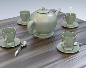 Tea service 3D