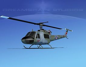 3D model Bell UH-1B Iroquois Canada Army