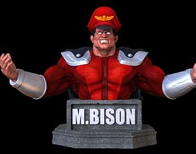 M Bison bust 3D printable model
