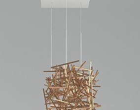 3D model Ridgely Studio Criss Cross Chandelier