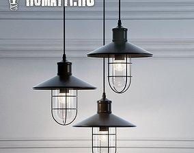 Hanging lamp Romatti Castle color 3D