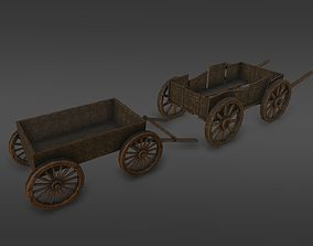 3D asset Medieval dray village pack