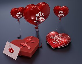 3D model Valentines Day