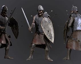 3D model Zombie warrior