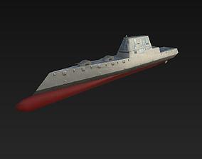3D asset Ship USS-Zumwalt