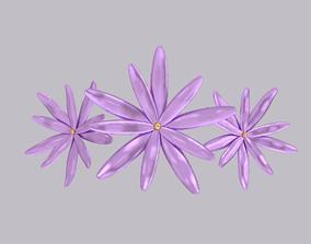 Flower hairpin 3D