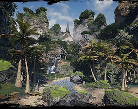 3D model Sharurs Tropical Island Unreal Engine 4
