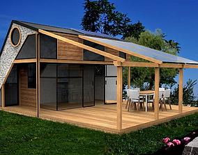 3D asset modern house