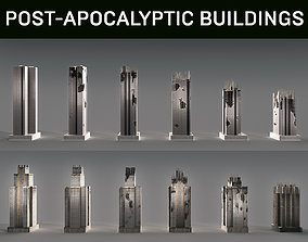 Post-Apocalyptic Background Buildings 3D model