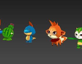 3D asset Cartoon Monster