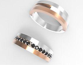 Couple simple rings 3D print model