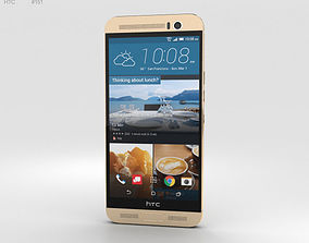 3D HTC One M9 Plus Amber Gold