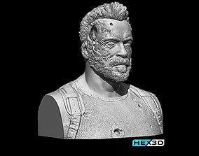 Terminator Dark Fate - Carl Bust 3D Print