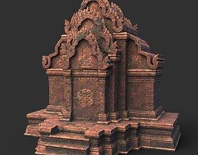 3D model Low poly Ancient Temple 03