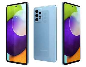case 3D model Samsung Galaxy A52 Awesome Blue