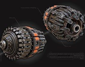 sci fi Machine Part - Cyberpunk design 3D