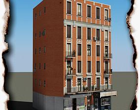 3D model game-ready shop Building