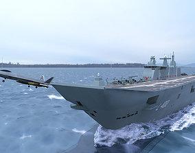 3D TCG Anadolu L400 Turkish Navy VR / AR ready