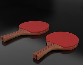 Ping Pong Paddle 3D asset game-ready
