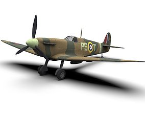 3D asset Supermarine Spitfire WW2 Fighter Plane