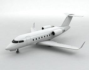 Bombardier Challenger 600 Aircraft 3D model
