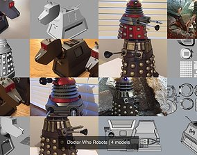3D model Doctor Who Robots