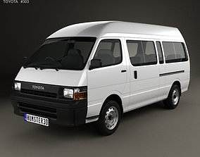 3D model Toyota HiAce Commuter 1992