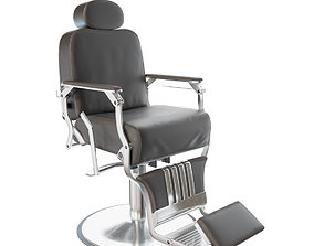Leather Barber Chair 3D asset