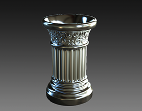 Roman Column Style Mug 3D print model beer