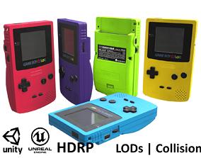 Gameboy color - 5 original colours - game - VR - 3D asset