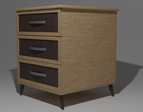 Nightstand - LowPoly 3D asset