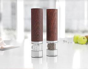 3D model Pepper and salt grinder with wood details