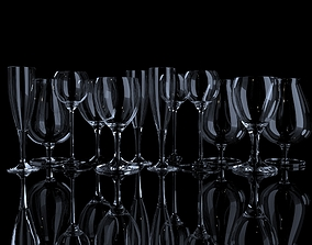 Glassware Collection 3D model