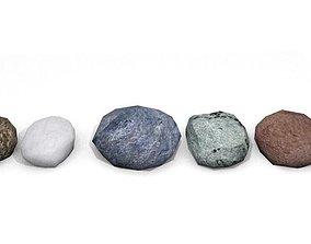 3D printable model poly rock - stone