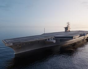 2020 Aircraft Carrier sky 3D model