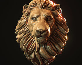 Lion Head Pendant 3d print model cat