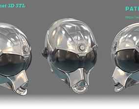 RA7 Full Size Wearable Helmet - 3D Print Ready STL