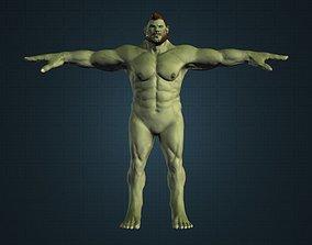 animated Hulk Alien Brute Male Gameready Model Best Ever