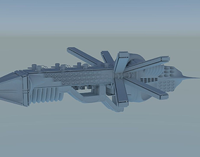 3D model Butterfly Spaceship
