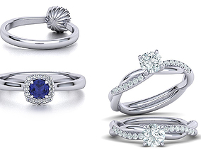 3D model Double Ring Collection with Discount