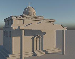 3D asset church model