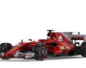 F1 Ferrari SF70H 2017 3D model