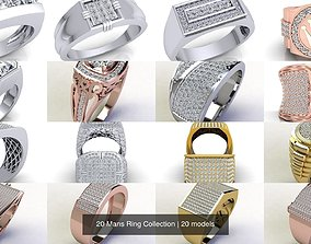 3D model 20 Mans Ring Collection