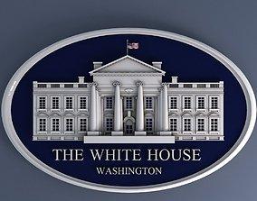 White House Sign 3D