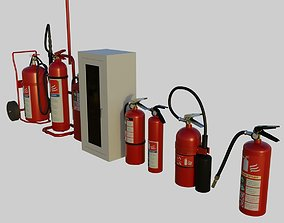 3D model Fire Extinguishers collection vol 2 - Emergency